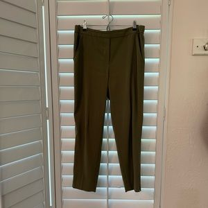 Slim Ankle Pants with Elastic Waist